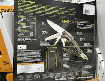 Kilimanjaro Magnus 9-in-1 Folding Multitool: great for hiking, outdoors, your toolbox, or your car