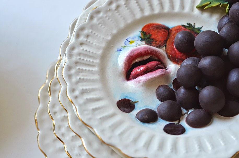 creepy ceramic tableware ronit baranga-8