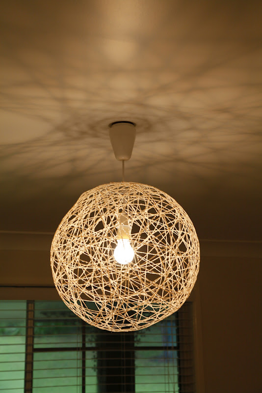 diy pendant string light the whimsical wife