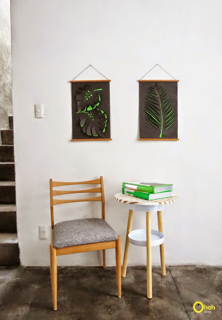 DIY Paper Leaf Wall Art