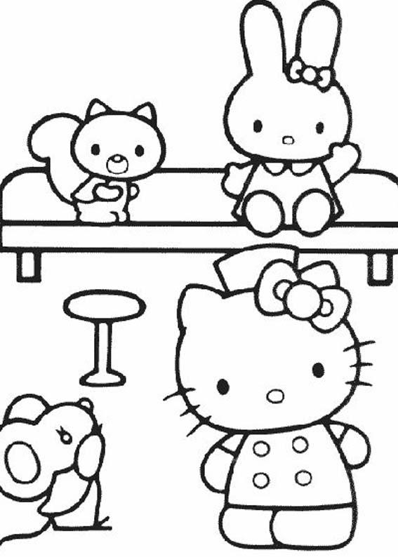 a desenhar Hello Kitty Pets colorir
