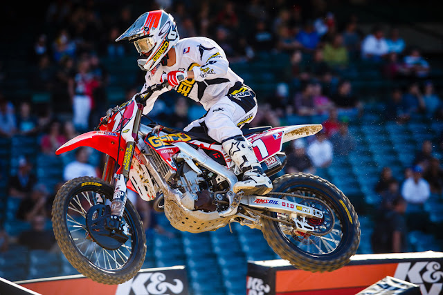 Eli Tomac ripping it on a 2013 CRF250R available at Southern Honda Powersports