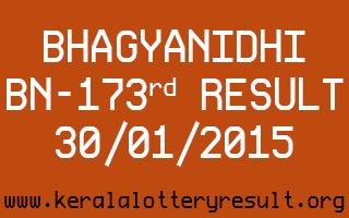 BHAGYANIDHI Lottery BN-173 Result 30-01-2015