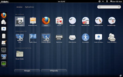 Captura de tela do GNUME Shell #1