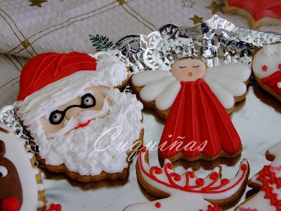Galletas glasa Navidad