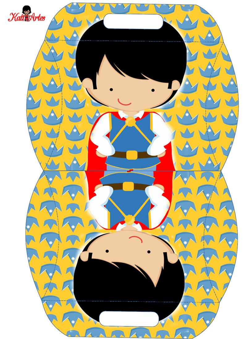 Príncipe: Caja Almohada para Imprimir Gratis.