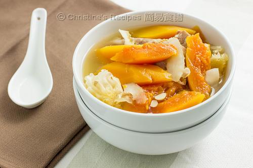 紅木瓜雪耳湯 Red Papaya Soup02
