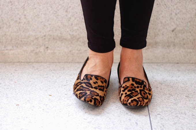 Steve Madden pony hair leopard loafers