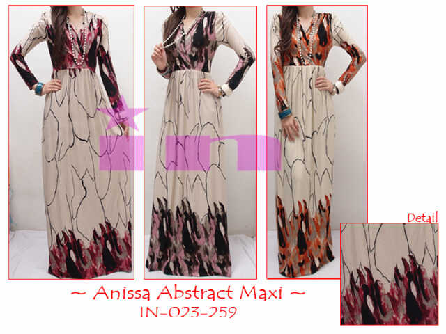 Busana Muslim Annisa Abstract Maxi Dress