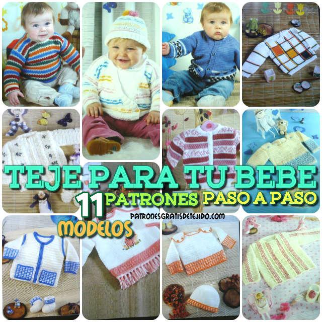 Teje para tu bebé / 11 patrones crochet paso a paso | Crochet y Dos ...