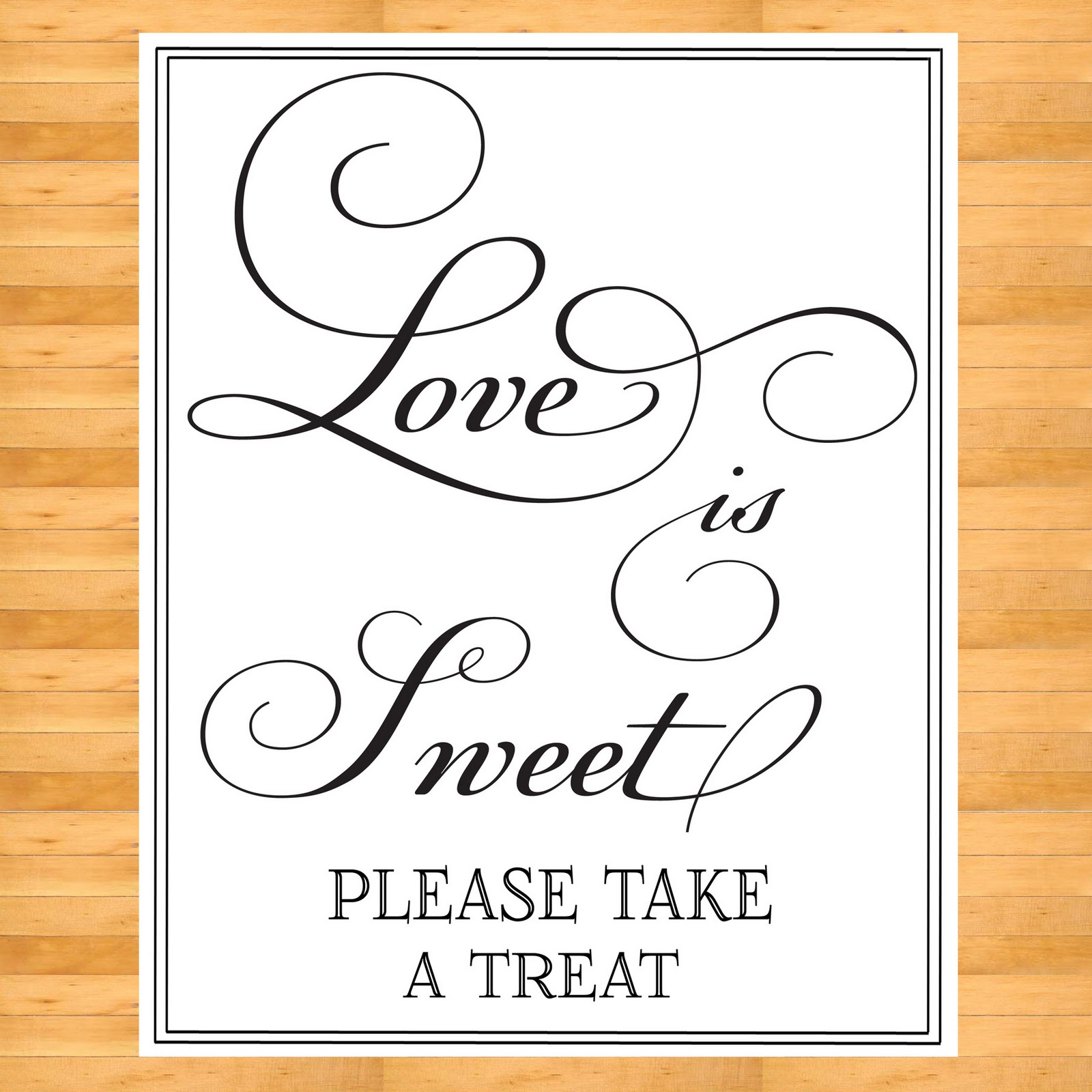 Digital Bunny's Designs: Love is Sweet Sign