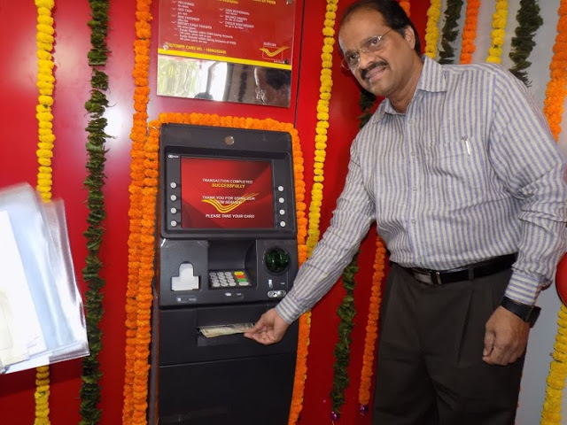 Inauguration of ATM at Thane HO by sri E.V.RAO, DPS Mumbai Region