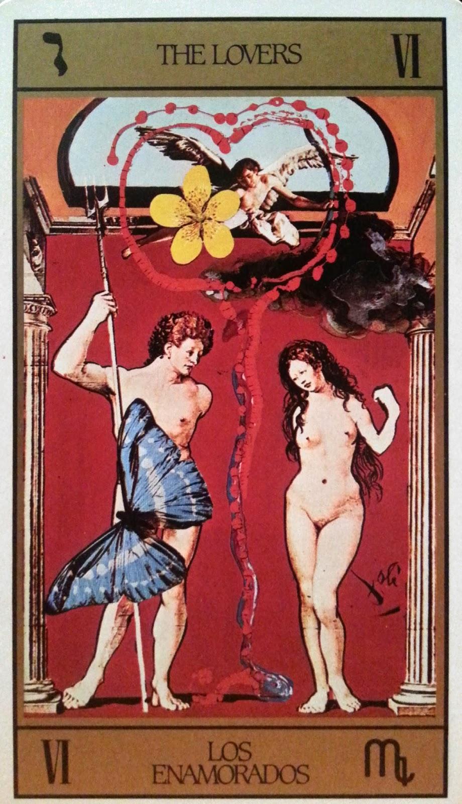 Los Enamorados. Tarot de Dalí