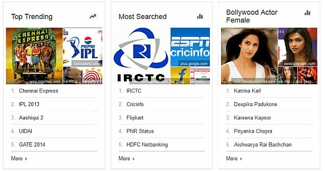 Top Google Search Queries made by Indians in 2013