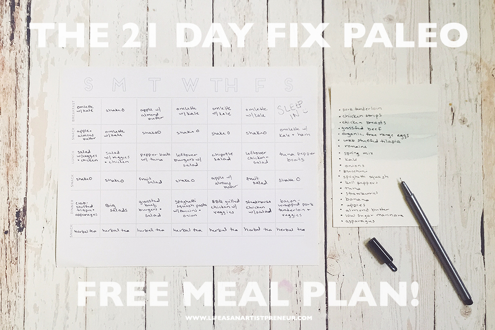 how to do the 21 day fix paleo