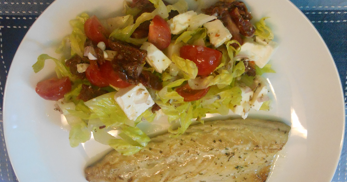 quick recipe mackerel fillet with a tomato salad