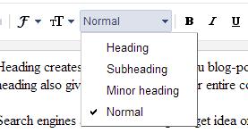 custom header tags for blogger