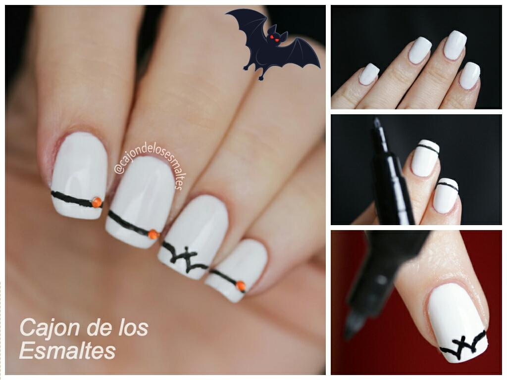 Diseño de uñas de Halloween - Paso a paso sencillo | Cajon de los ...