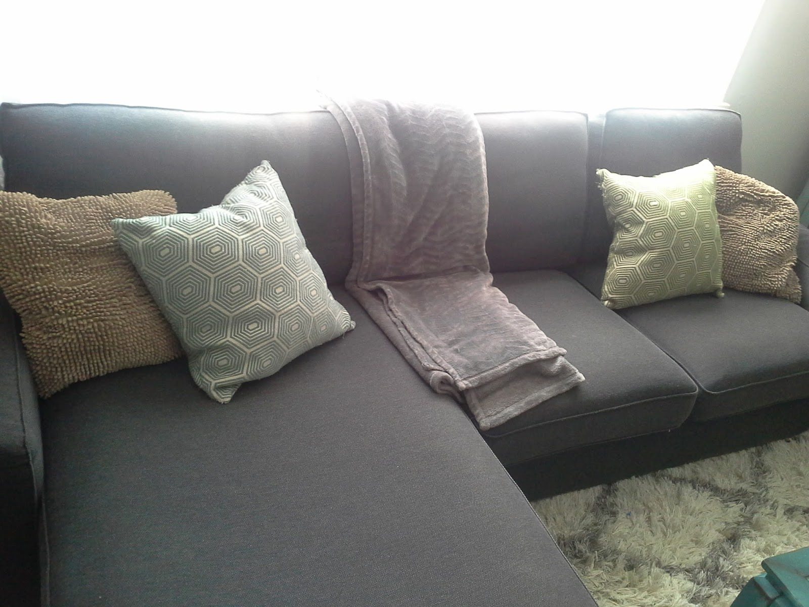 Ikea Kivik Loveseat Chaise Combination Living Room Photo Gallery