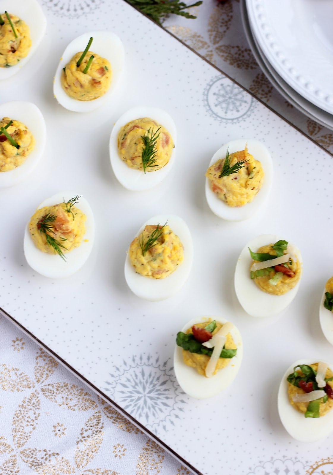 Deviled Eggs Three Ways