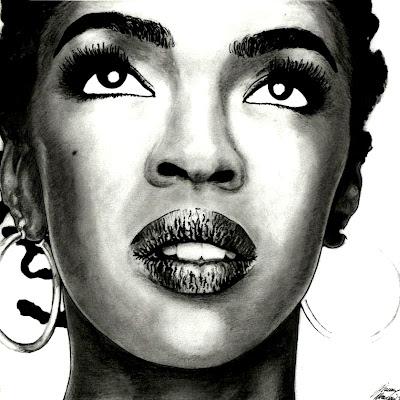 hip hop illustration - lauryn rappers drawing - rap drawings - hip hop portraits