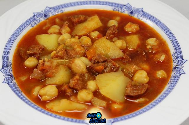 Potaje de garbanzos con patatas thermomix - Potaje de garbanzos y judias ...