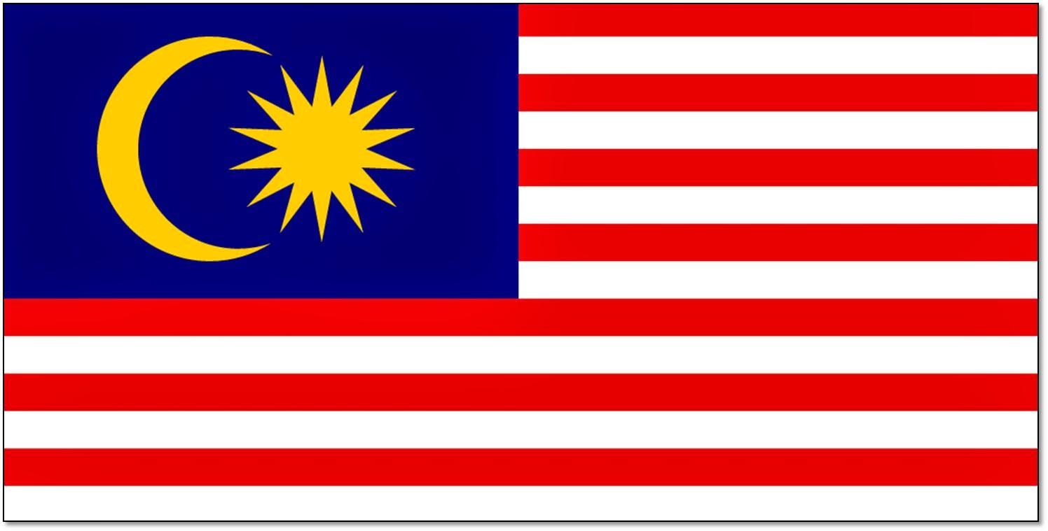 bendera Malaysia berbagai bentuk