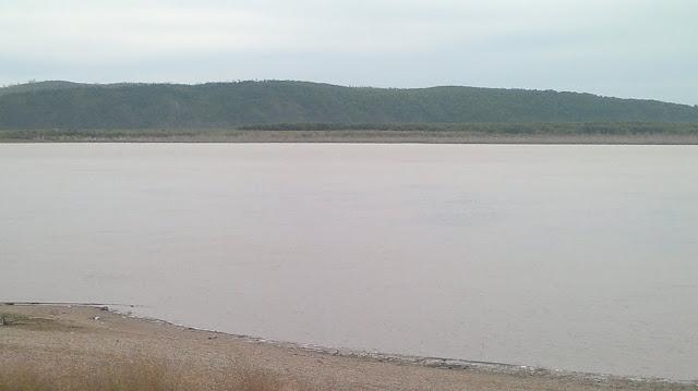 Вид на реку Амур в Комсомольске на Амуре