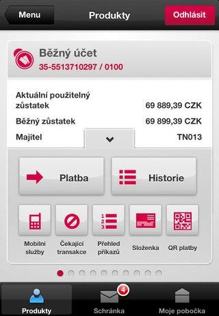 Komerční banka sur iPhone