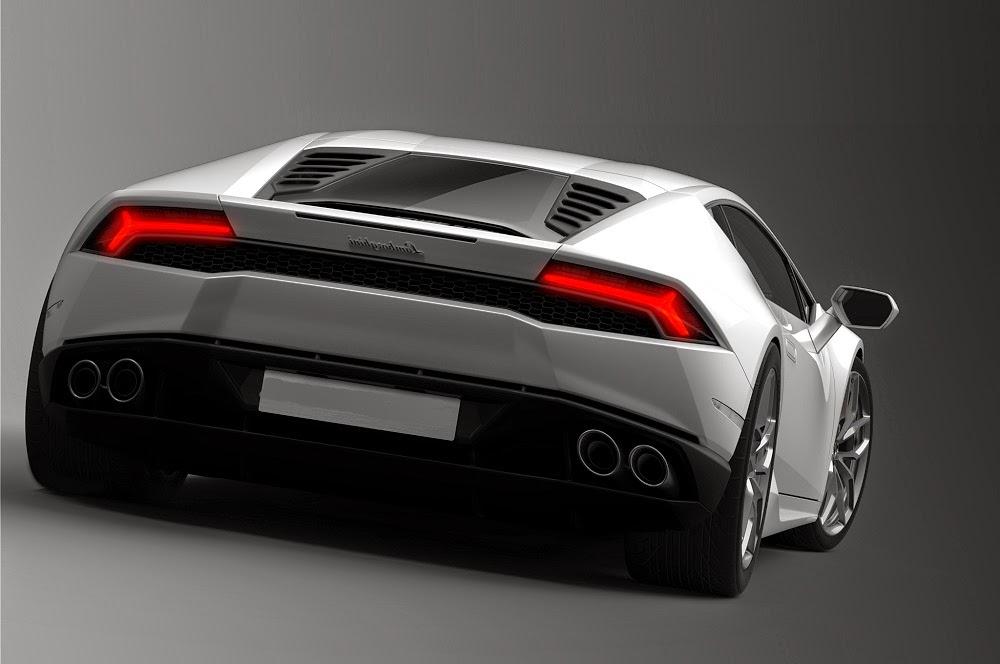 Lamborghini Huracan White Rear End