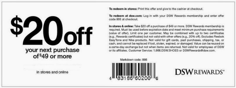 Dsw coupons online 2018