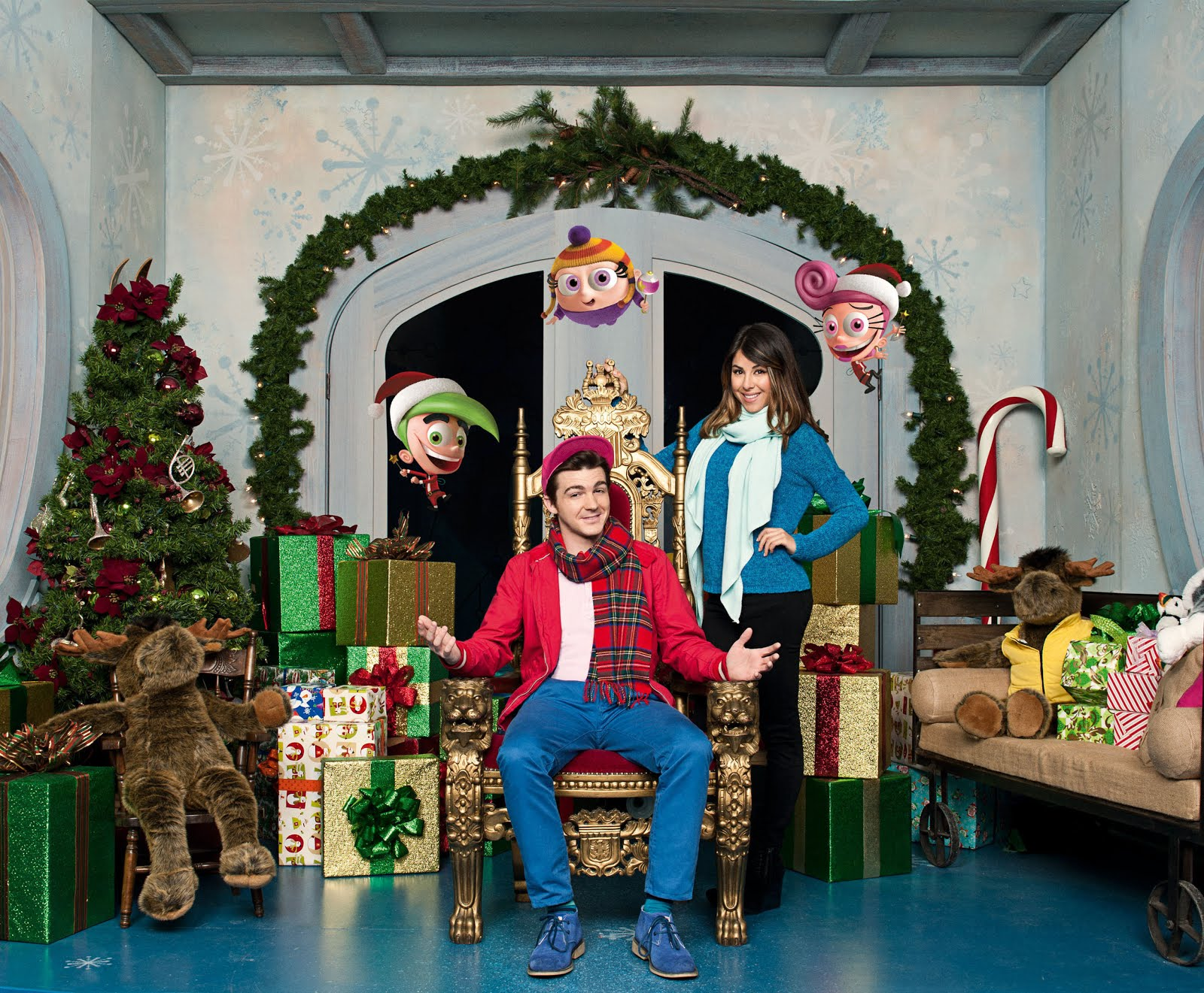 download image nickelodeon press photo featuring the cast of nickelodeons brand new holiday special a fairly odd christmas - Fairly Oddparents Christmas