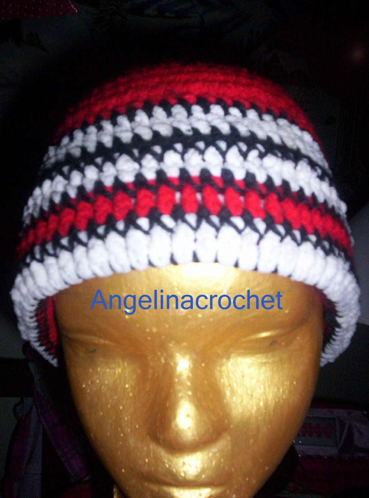 Angelina -crochet and more-: Gorro crochet-ganchillo River Plate