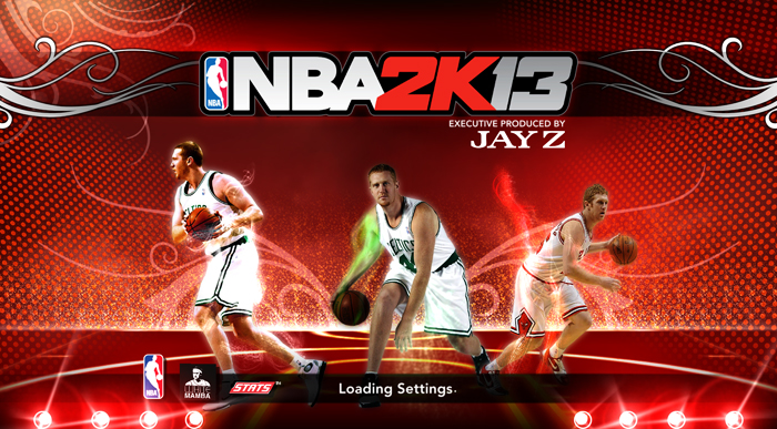 NBA 2K13 Brian Scalabrine a.k.a. The White Mamba Startup Screen