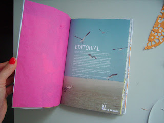a journal out of recycled paper
