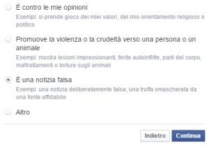 bufale su Facebook