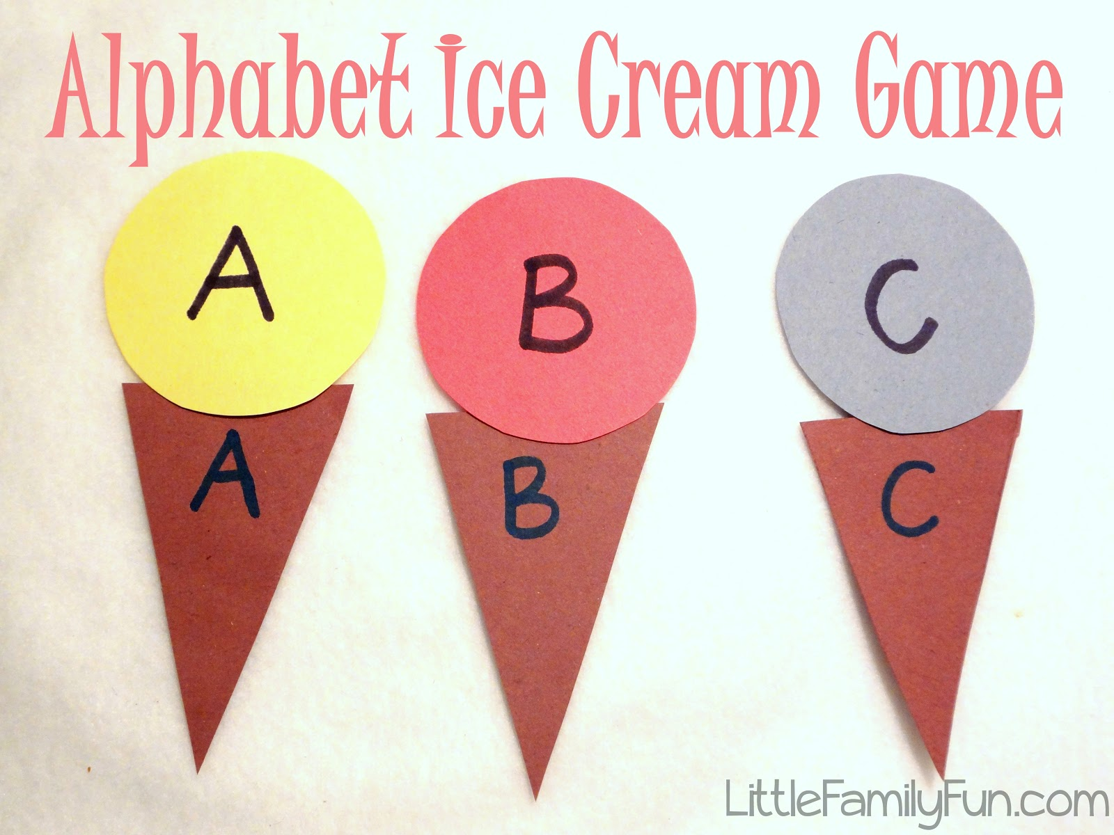 little family fun alphabet ice cream game