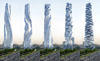 Revolving dynamic tower in Dubai