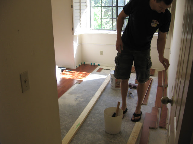 installing hardwood floors onto cement foundation