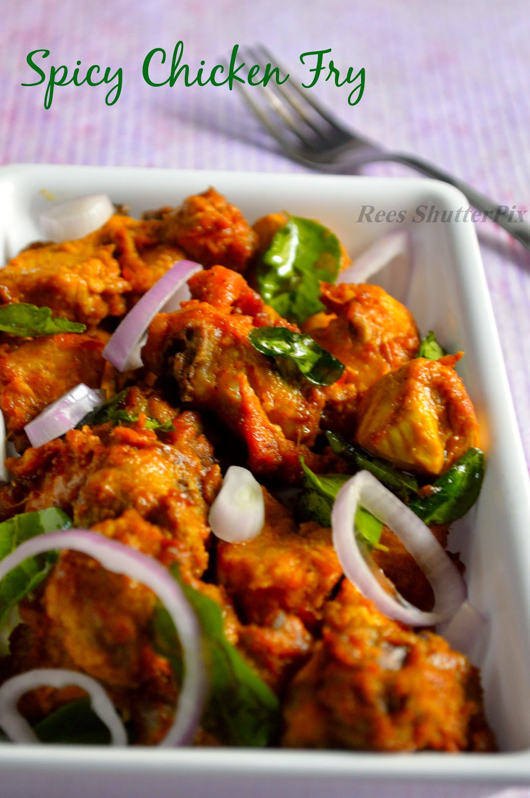 spicy chicken fry, recipe, chicken 65, lemon spicy chicken fry
