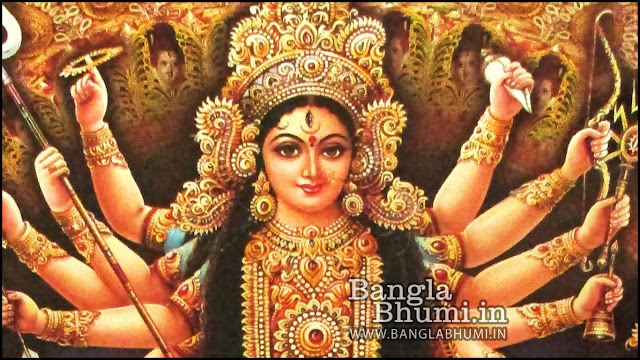 Maa Durga Face Indian God 1366x768 Wide Wallpaper