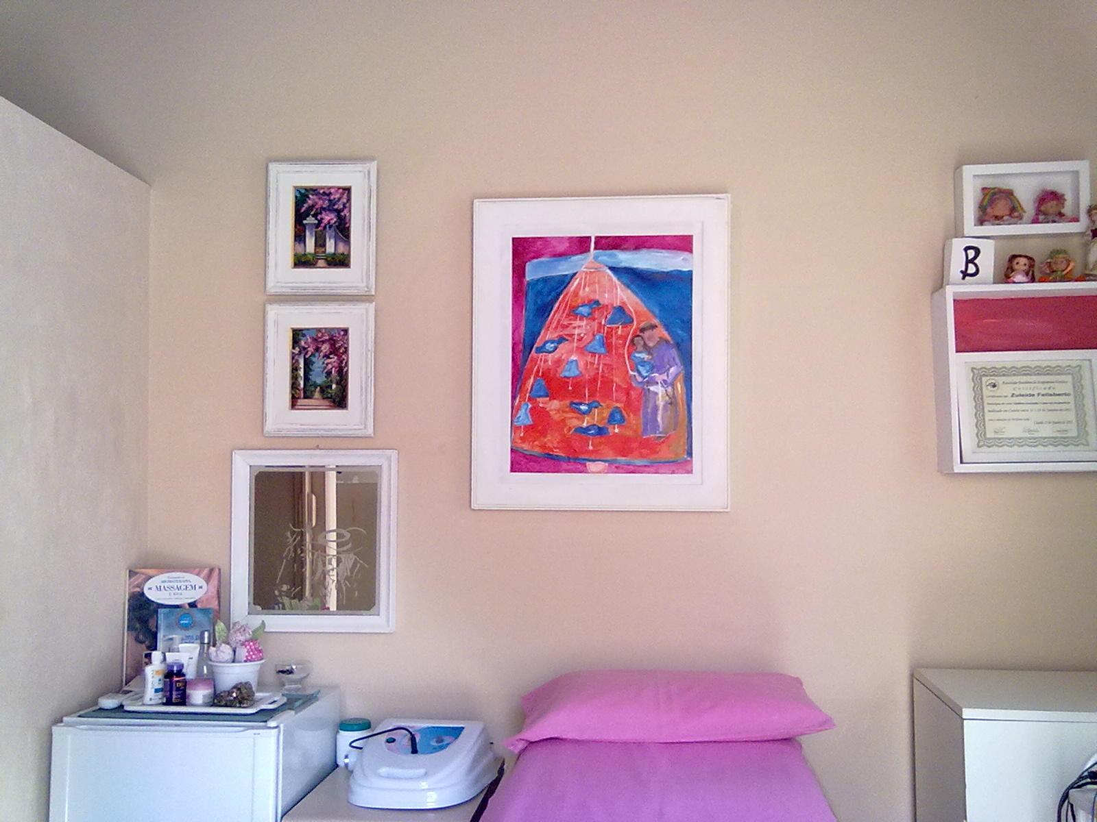 Cabine De Estetica Simples : Antes depois mudando decoração sala estetica
