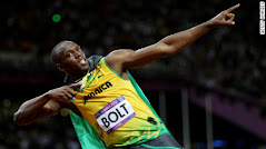 Usain Bolt (Jammaica) won the Gold  at 100 and 200 meters splint of London Olympic