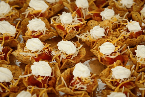 Individual Nacho Appetizer... super easy!