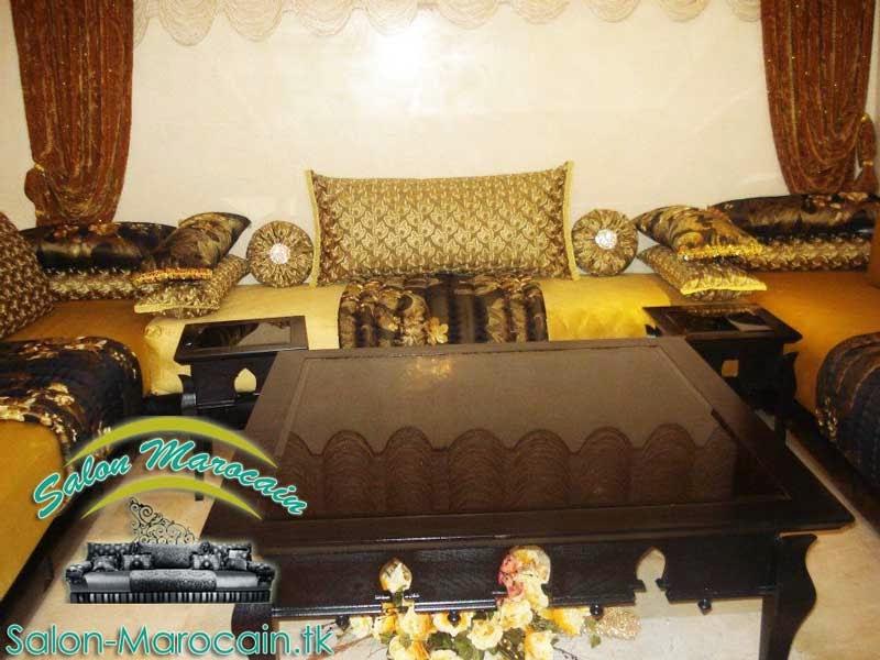 Salon-marocain-d'oré-de-luxe