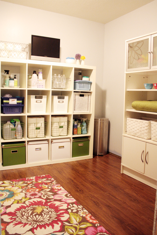 iheart organizing basement progress laundry land linen cabinet