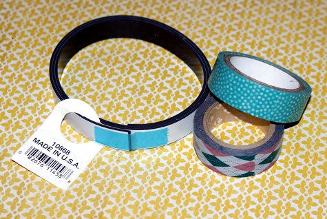 How to Make Washi Tape Magnets - DIY Washi Tape Craft Project