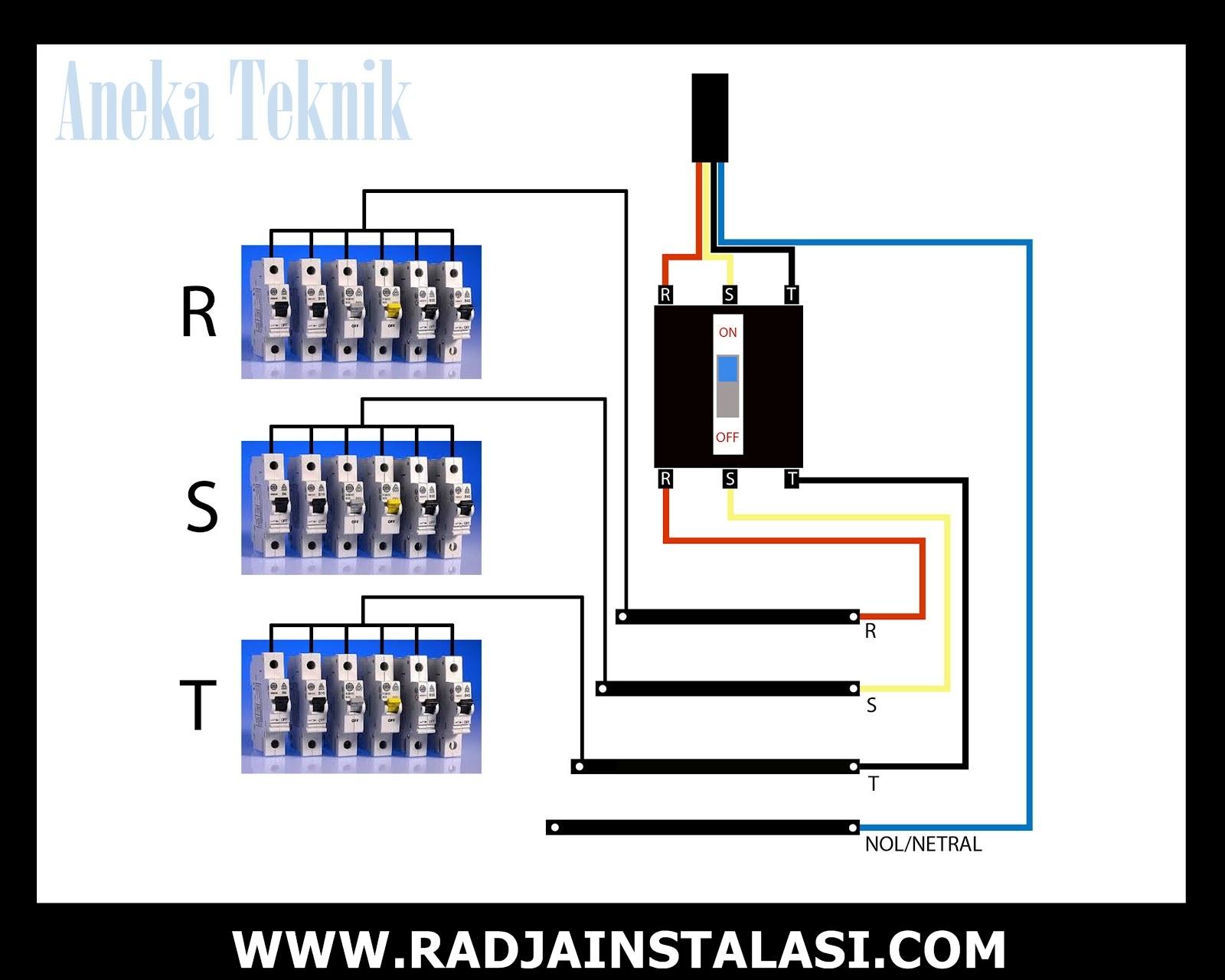 Wiring Diagram Panel Listrik 3 Phase : Cara buat panel listrik phase radja instalasi