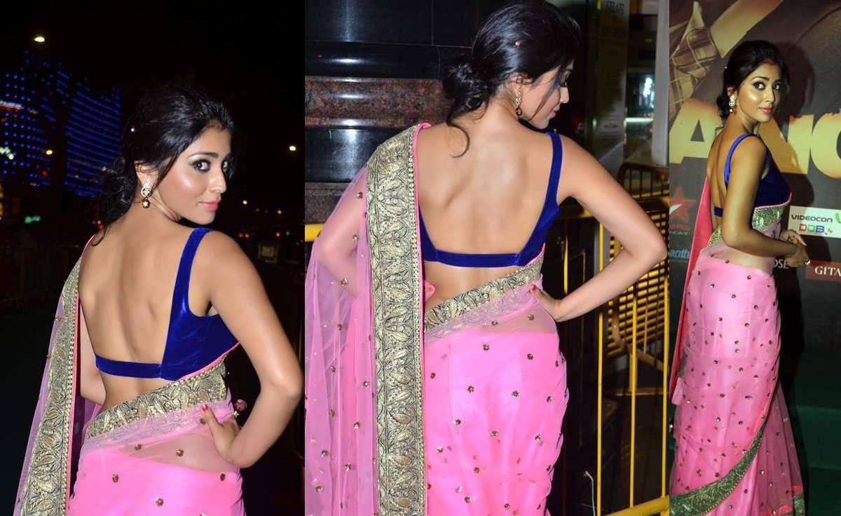 shriya saran showing her bare back pics,shriya saran hot pictures