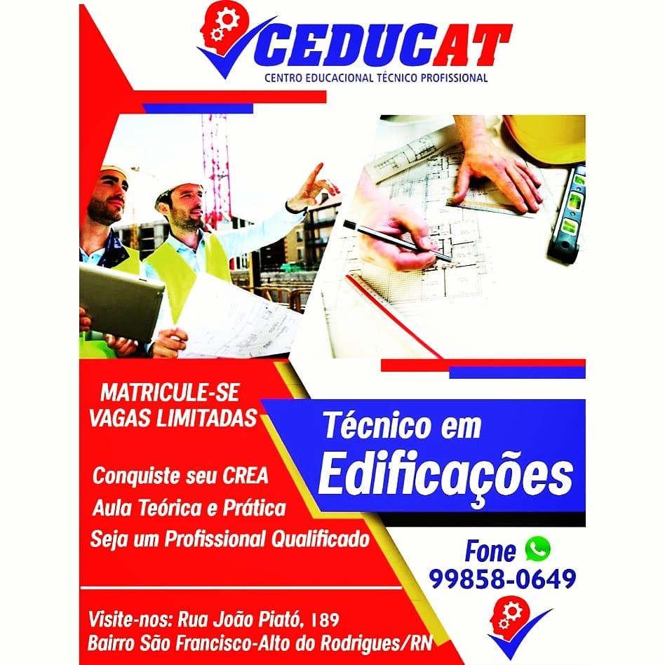 Curso Técnico em Edificações agora na CEDUCAT